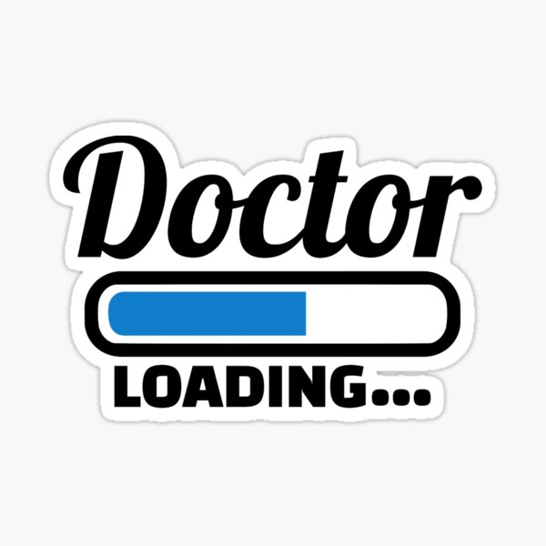 Doctor loading Sticker