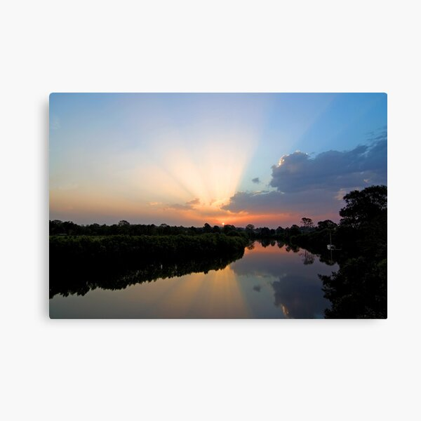 Logan River Sunset Canvas Print