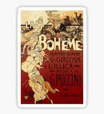 Antique Italian Opera Poster - La Boheme (1896) Sticker