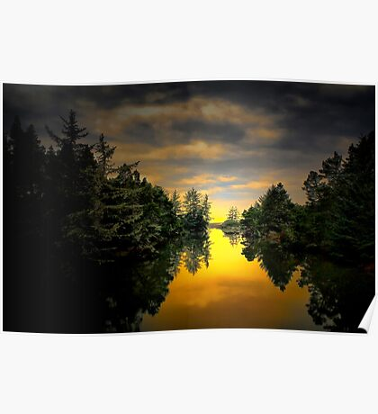 Give It Your All ~ Siltcoos River  ~ Poster