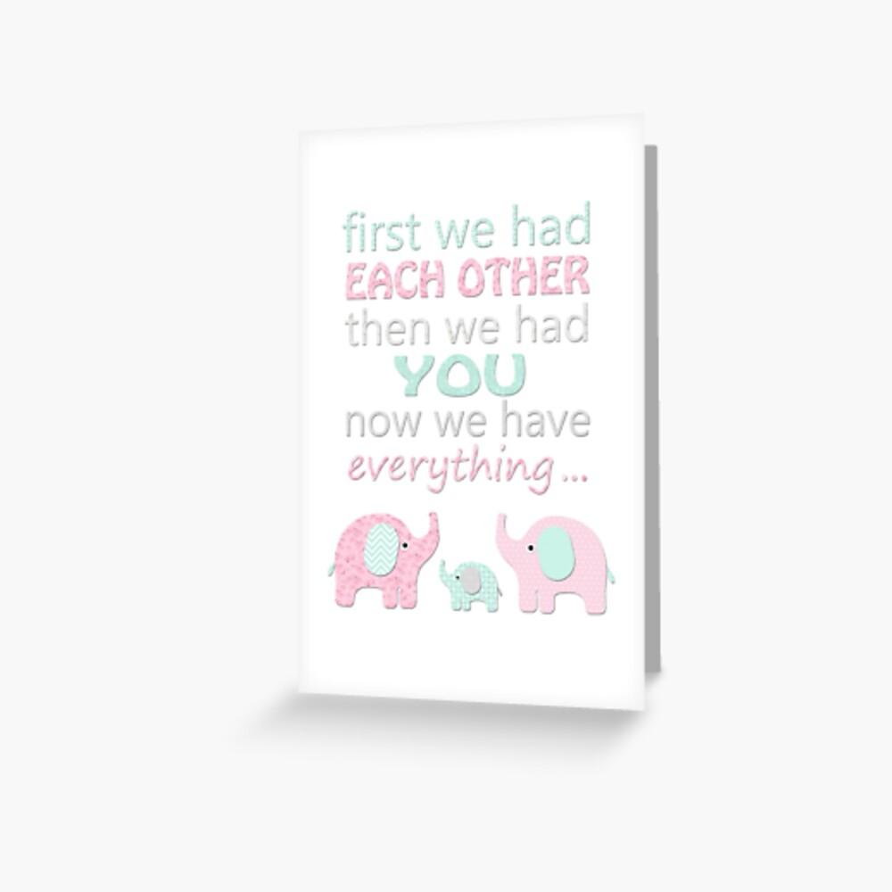 baby girl nursery quotes kids art | Greeting Card