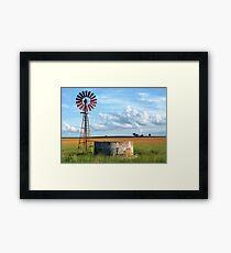 Wind Pump Framed Print