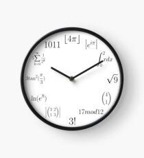 Reloj Reloj matemático