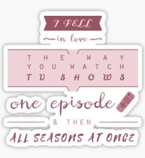 TFiOS misquote #1 (TV SHOWS) Sticker