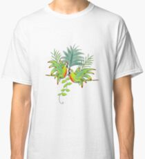 Parrots and Palm Leaves Classic T-Shirt