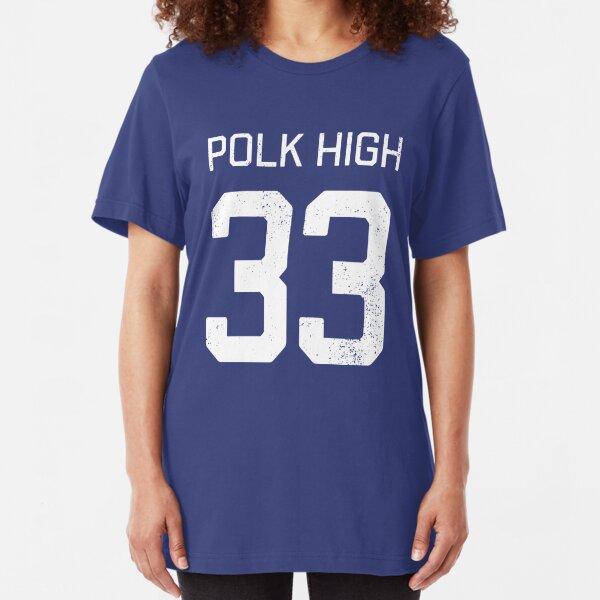Al Bundy Polk High (Blue) Slim Fit T-Shirt