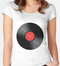Music Record Women's Fitted Scoop T-Shirt