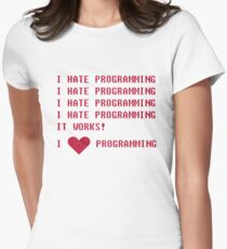 I HATE PROGRAMMING Women's Fitted T-Shirt