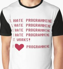 I HATE PROGRAMMING Graphic T-Shirt
