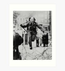 Leap to Freedom (East German Soldier) Art Print