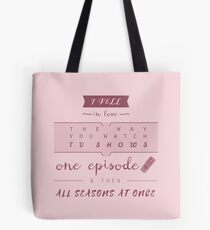 TFiOS misquote #1 (TV SHOWS) Tote Bag