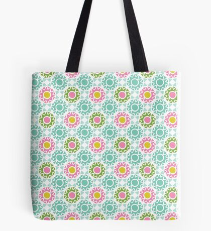 Bold Moroccan Tile Pattern Tote Bag