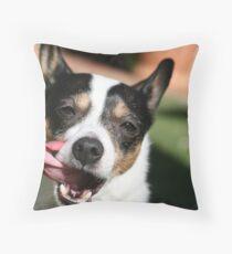 Goofy Dog Throw Pillow