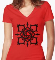 Cross Academy Women's Fitted V-Neck T-Shirt