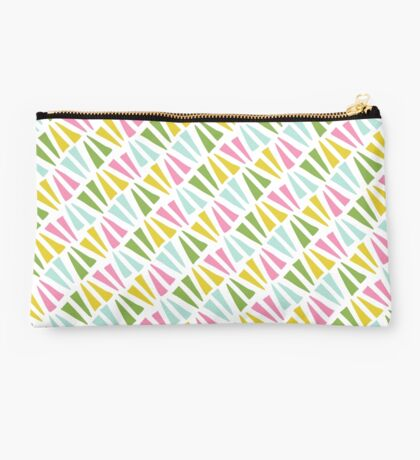 Spring Triangle Pattern Studio Pouch