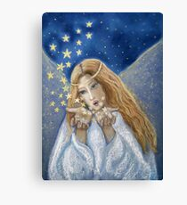 L'ange et les étoiles Canvas Print