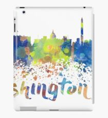 Washington DC Water Color Skyline iPad Case/Skin