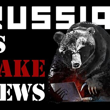 Russia is fake news! white by cambrilis