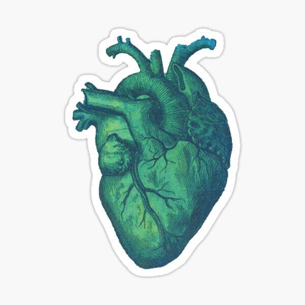 Blue Heart Print  Sticker