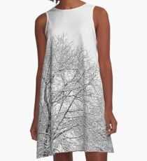 Snow covered tree tops A-Line Dress
