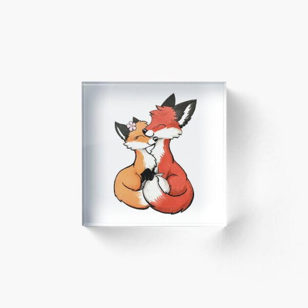 Fox Couple Acrylic Block