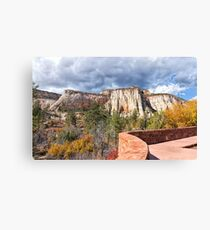 Overlook in Zion National Park Upper Plateau Canvas Print