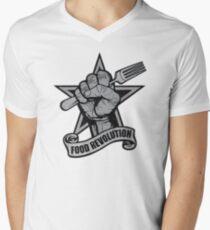 Food Revolution! Mens V-Neck T-Shirt