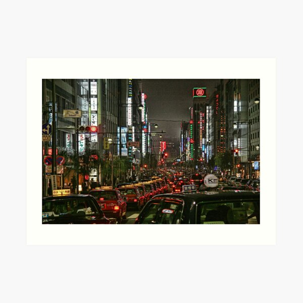Tokyo Taxis Art Print