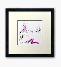 Feline Forensics Furry Fuscia Framed Print