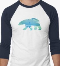 Colorful Polar Bear Men's Baseball ¾ T-Shirt
