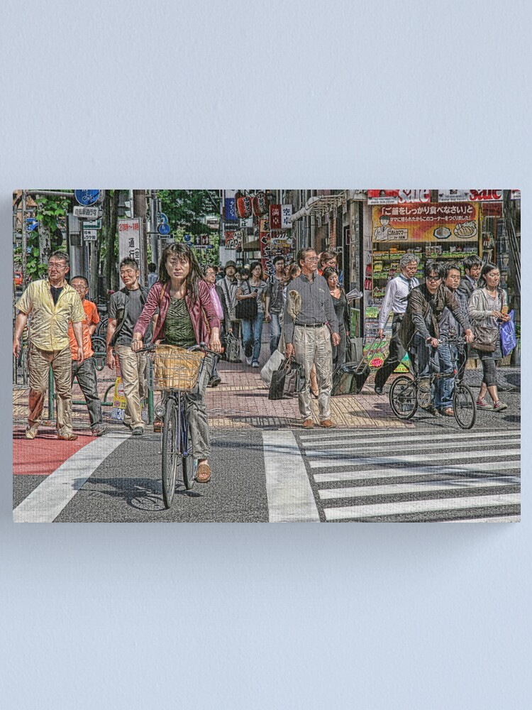 Alternate view of Tokyo  - Street scene by day Canvas Print
