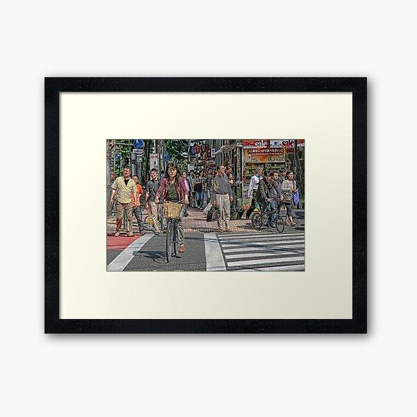 Tokyo  - Street scene by day Framed Art Print