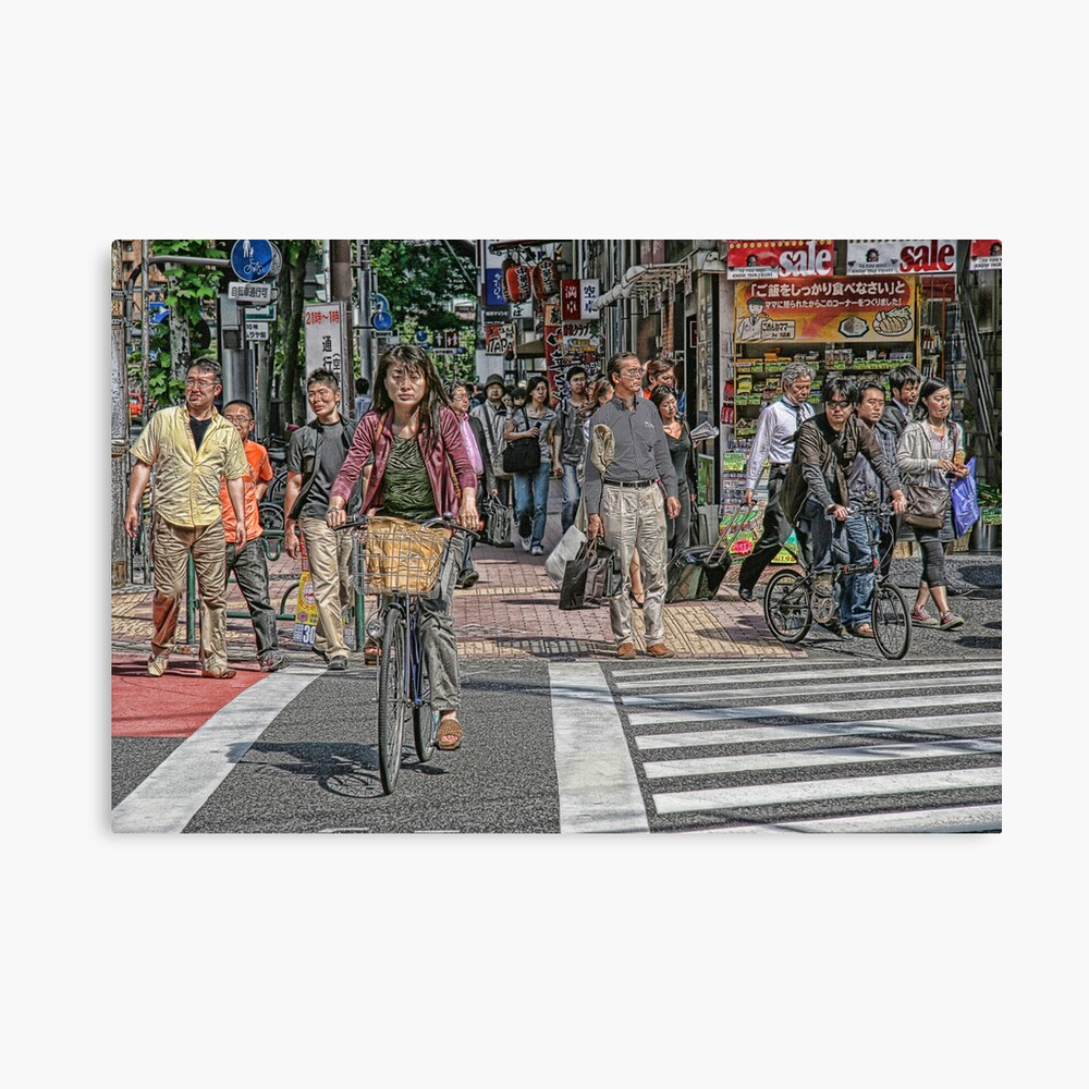 Tokyo  - Street scene by day Canvas Print