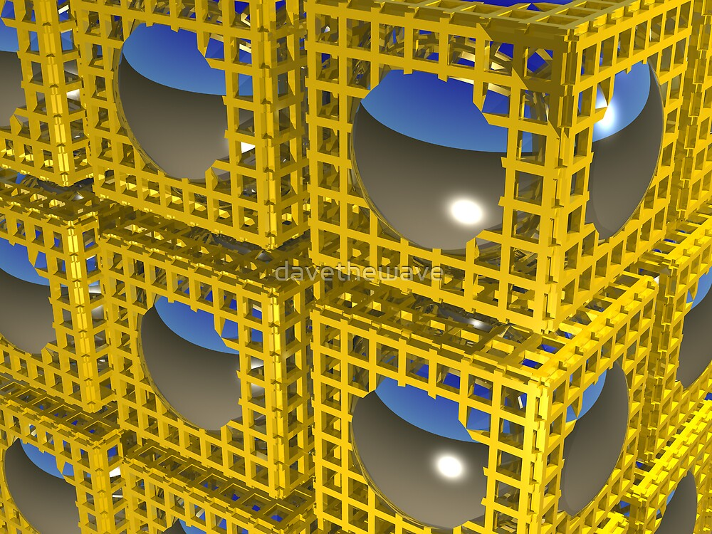 Chrome Balls in Gold Cages by davethewave