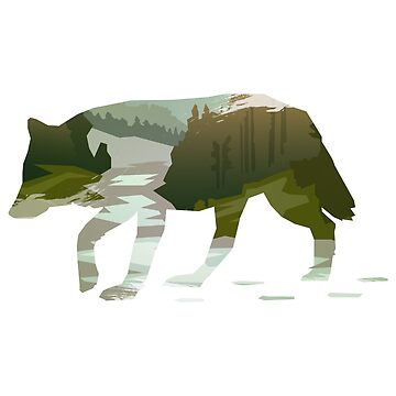 Wandering Wolf on Mountains : Into the Wild by mellow-threads