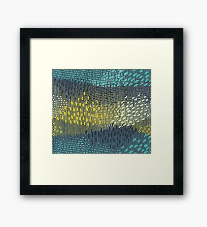 Cosmic Particles by Friztin Framed Print