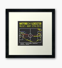 Troy Deeney Goal: Watford 3-1 Leicester 2013 Framed Print