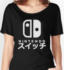 Nintendo Switch Japanese Women's Relaxed Fit T-Shirt