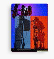 digital world multi-colored Canvas Print
