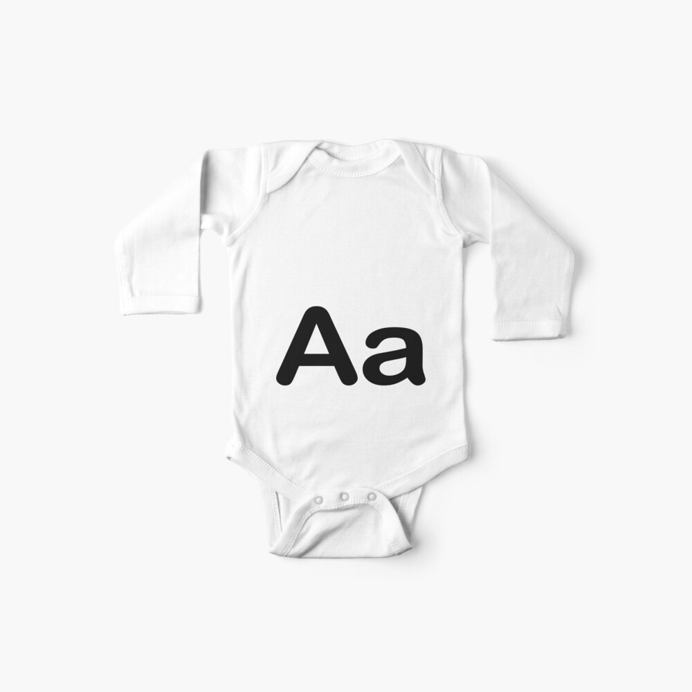 Quot Aa Initial Letter Alphabet Quot Baby One Piece By