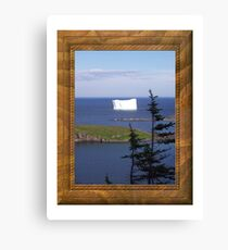 Ice on Water Canvas Print