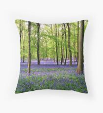 Purple Haze - Bluebell Wood Throw Pillow