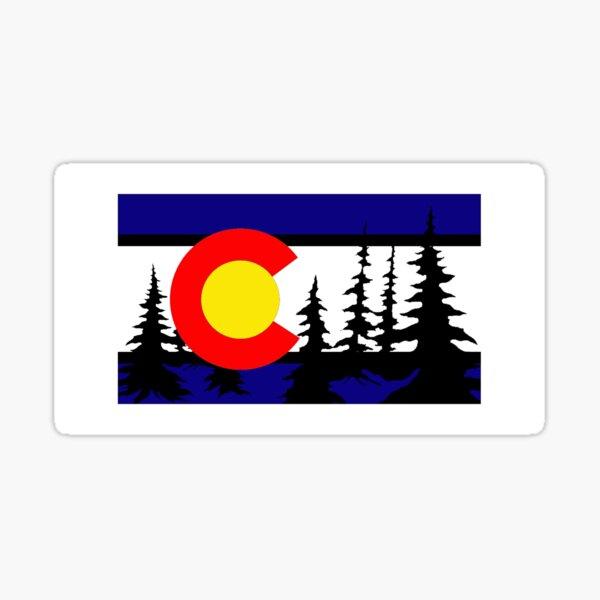 Colorado Tree Silhouette Sticker