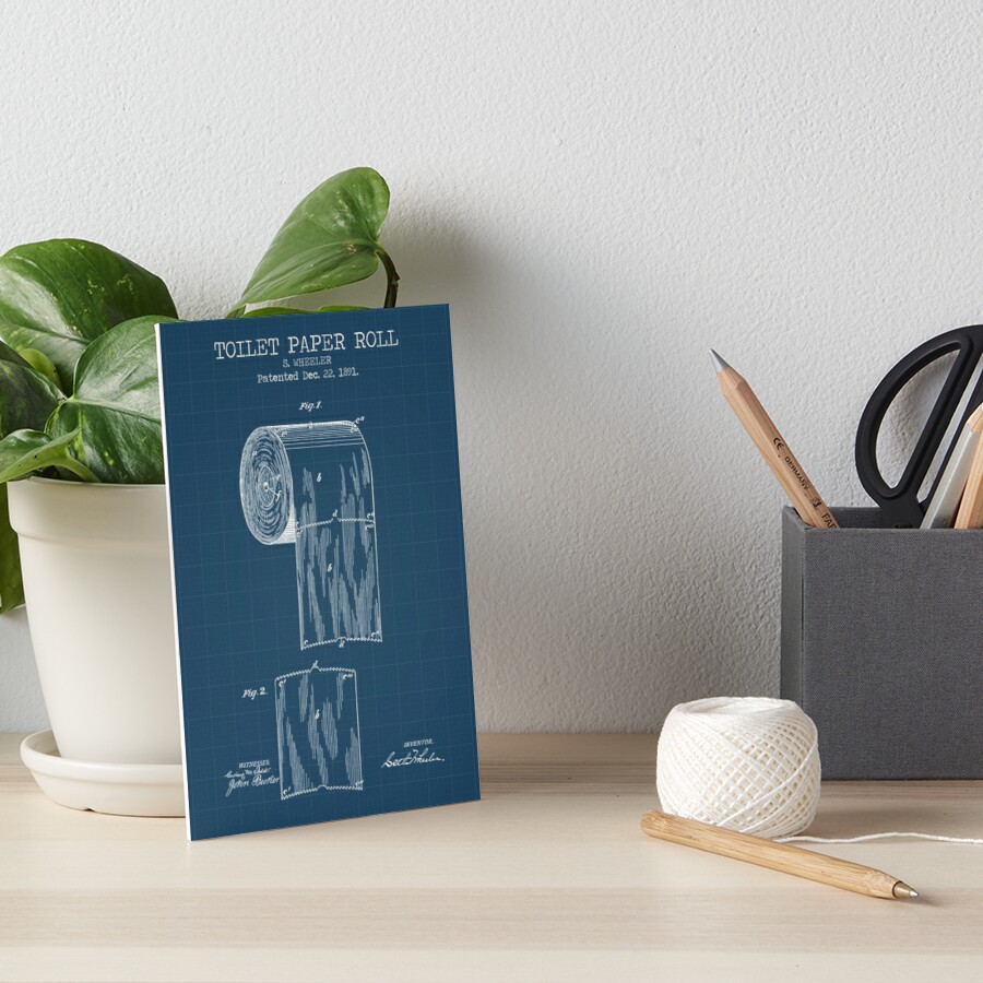 Toilet paper roll blueprint art boards by muharko redbubble toilet paper roll blueprint by muharko malvernweather Image collections