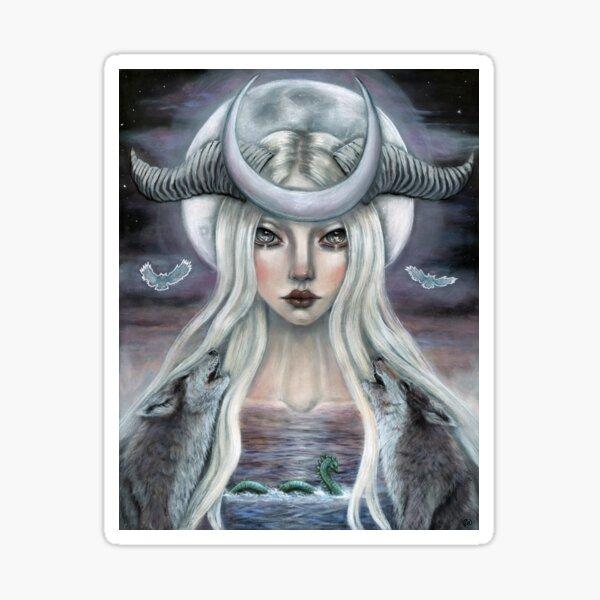 The Moon Tarot Card  Sticker