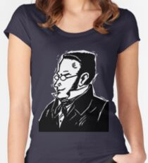 STIRNER CARICATURE LOGO PCM INDIVIDUALISM MEMES Women's Fitted Scoop T-Shirt