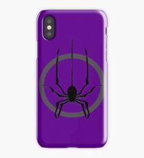 Spider falls. iPhone Case