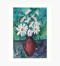 Daisy Vase Art Print