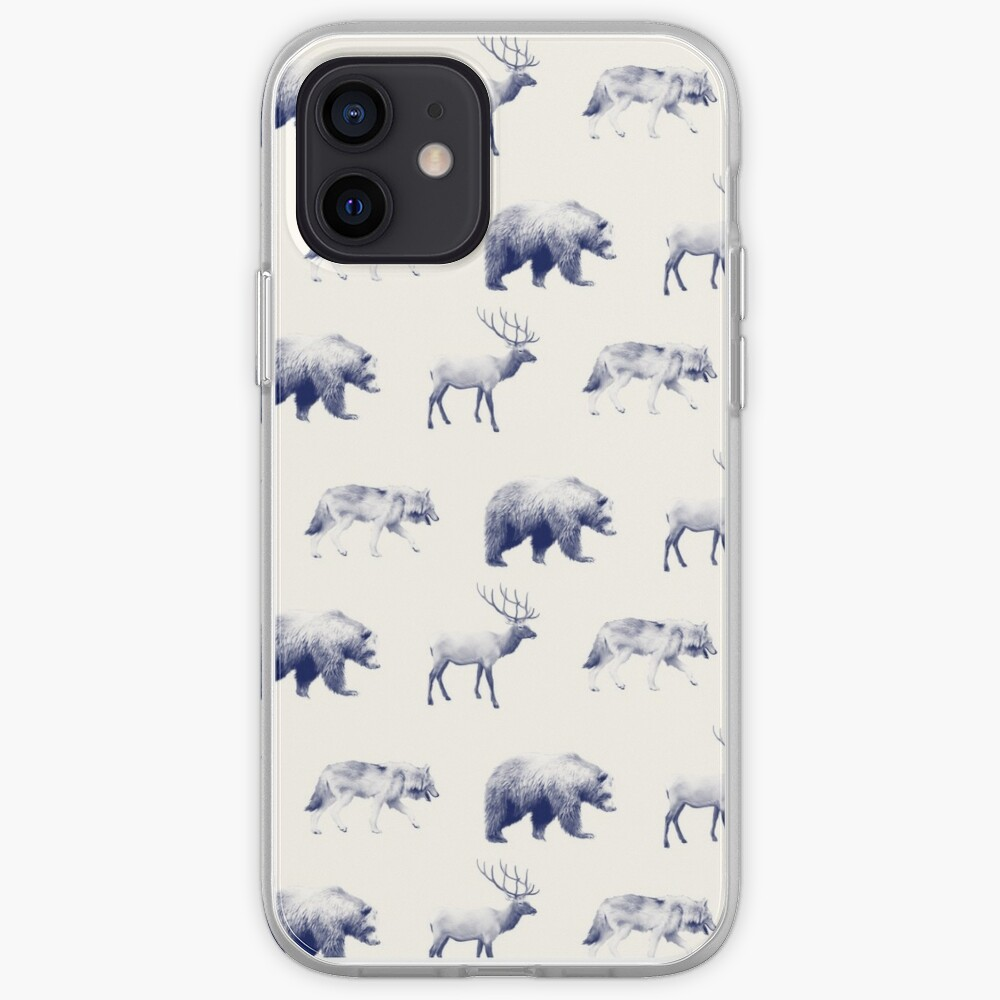 Wild Pattern // Blue iPhone Case & Cover