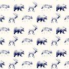 Wildes Muster // Blau von Amy Hamilton